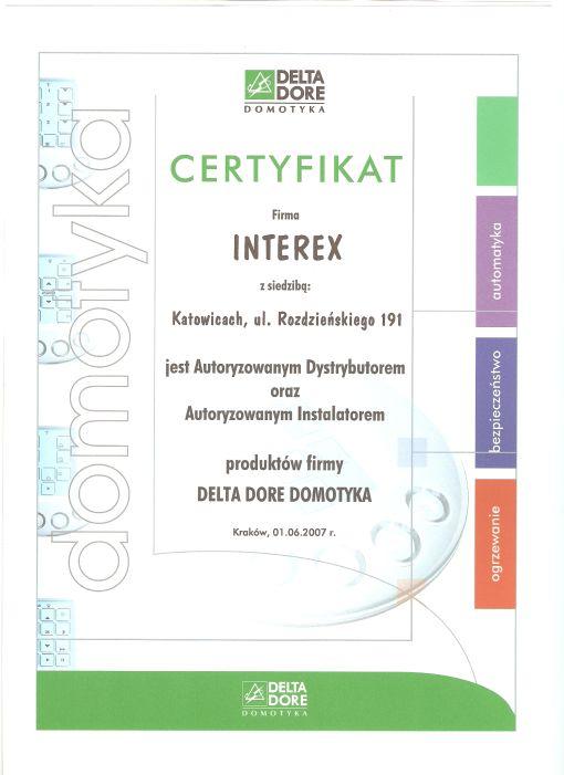 Certyfikat Delta Dore
